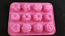 Silicon mould mold Heart star flower cake muffin dessert chocolate soap ice cube