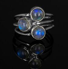 Gorgeous 925 Sterling Silver Ladies Moonstone Gemstone Designer Ring Multi Stone