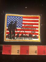 Flag Background St. Louis Arch Volksmarch ST LOUIS STUTTGART Missouri Patch 02Z6