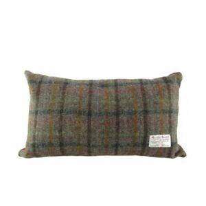 Harris Tweed Rectangular Cushion in Brown Check LB4001-COL8