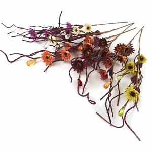 5 Head Glittered Sunflower and Crystal Spray Artificial Flowers Craft Fake Stem