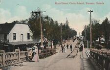 a canada antique old postcard canadian main street centre island toronto