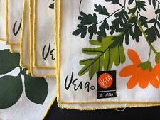 vintage textiles Vera textiles set 4 napkins never used original label Mint