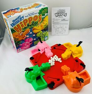 1998 Hungry Hungry Hippos Game by Milton Bradley Complete Great Cond FREE SHIP