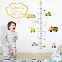 Cartoon Height Measure Wall Sticker Kids Rooms Growth Chart Nursery Wall Decor