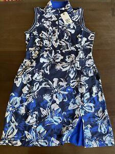 EP Golf Floral Swoosh Border Dress Active Size M Sleeveless BNWT