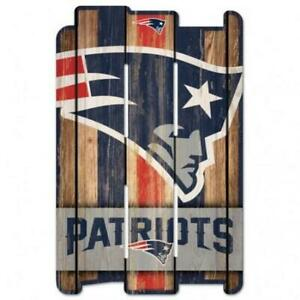 """New England Patriots Wood Fence Sign 11""""x17"""" [NEW] NFL Wall Man Cave Fan Wall"""