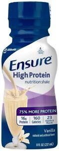 Ensure High Protein Shake - Vanilla - 8 oz/48 fl oz - 6 ct