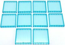 LEGO 10 Neuf Trans-Light Bleu Panneau 1 x 6 x 5 Pièces