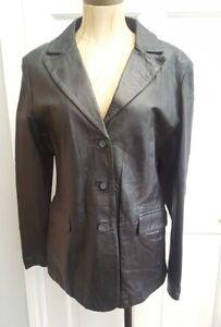 ibe ladies Black Genuine Leather jacket  - new with tags - sample