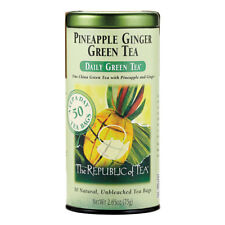 The Republic Of Tea Pineapple Ginger Green Tea, 50 Tea Bags, Aromatic Fruit Tea