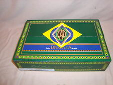 CAO BRAZILIA BOX PRESS W/TRAYS GREEN CIGAR BOX