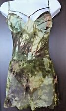 Auth FENDI Khaki/multicolor ONE Piece SWIMSUIT & Matching see-thru COVERUP