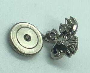 Vintage 925 Sterling Silver Moose Head Screw Back Lapel Pin Jewelry