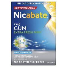 ツSPECIAL! NICABATE REGULAR STRENGTH 2MG EXTRA FRESH MINT SOFT GUM 100 PIECES NEW