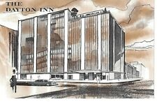 Postcard OH The Dayton Inn Hotel Drawing Chrome Vintage 4.5 x 7