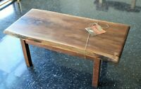 Walnut Live Edge Coffee Table with Epoxy Fill