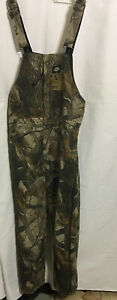DICKIES QUILT LINED Insulated Realtree Hardwood Winter Bib Overalls Youth Lg