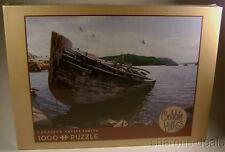 Awash Cobble Hill 1000 Pc Jigsaw Puzzle Canadian Artist David Ward 19x28 Boat
