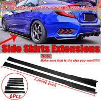 Carbon Fiber Side Skirts Rocker Panel Splitters For Honda Civic SI Type-R Accord