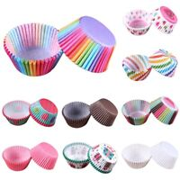 100X Disposable Colorful Paper Cupcake Cases Muffin Baking Cake Cup Party Decor