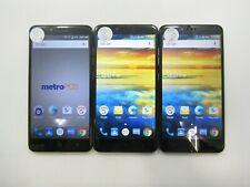 Lot of 3 ZTE ZMax Pro Z981 32GB T-Mobile/MetroPCS Check IMEI Grade C 6-579