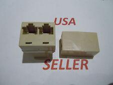 RJ45 CAT5 6 LAN Ethernet Splitter Adapter & Extender Coupler Jointer Plug for PC