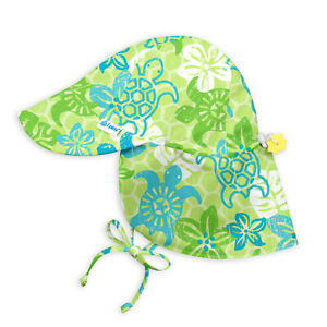 iPlay by green sprouts Baby & Toddler Turtles Flap Sun Protection Hat UPF 50+