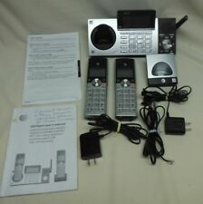 AT&T CL83215 DECT 6.0 Cordless Phone Answering System 2 Handsets Black Silver