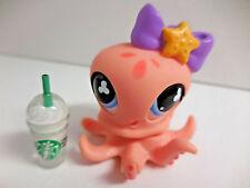 Littlest Pet Shop LPS #513 Peach Octopus Starbucks Year 2007