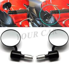 """Motorcycle Round 7/8"""" 22mm-25mm Handle Bar End Rear Mirrors For Street Bikes"""