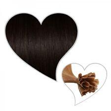 25 Extensions schwarzbraun #1B, 45cm, 1g, Premium-Qualität, indisches Remy-Haar