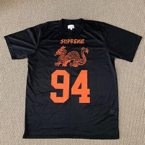 Supreme Dragon Football Top Jersey Tee Black  Orange FW14  Size M Medium