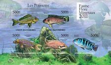 Fish Marine Life fishes Comoros Comores 2011 m/s Mi. 3001-05 MNH #CM11112a