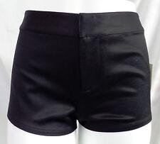 """LEITH"" BLACK SATINY CASUAL DRESS CLUB WEAR MINI SHORTS HOTPANTS SIZE: 6 NWT"