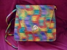 Vintage J. RENEE Colorful Wavy Striped Bag Purse w/Detachable Shoulder Strap