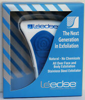 2 x NEW Le'edge face and Body Exfoliator Tool  BLUE. NEW IN BOX. chemical free