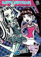 MONSTER HIGH ~ OFFICIAL BIRTHDAY CARDS ~ Great selection to Choose from L@@K