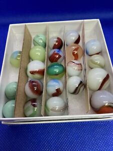 21 Oxblood Marbles and Others Akro Agate??