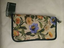 Sonia Kashuk Brush Easel Valet Botanical Floral White Green NWT Cosmetic Bag