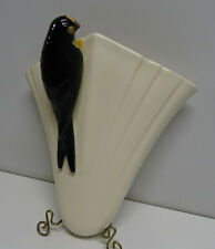 VINTAGE SYLVAC ? POTTERY BIRD WALL VASE / POCKET