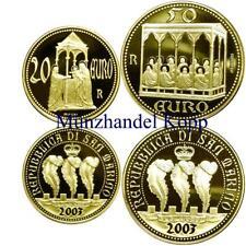 K103) SAN MARINO 2er Lot 20 & 50 EURO 2003 - Fresken der Arenakapelle - Gold