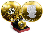 3 oz. Reverse Gold-Plated Pure Silver Coin - 'Whispering Maple Leaves' 2017