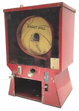 """ANTIQUE GUMBALL BASKET BALL SKILL GAME MACHINE 1940-50""""s (Missing Change Tray)"""