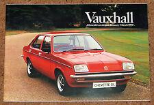 1980 VAUXHALL RANGE Sales Brochure - Chevette Cavalier Carlton Royale DTV