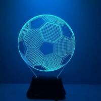 3D LED Night Light Football Table Lamp Kids Gift Colour Changing Home Decor