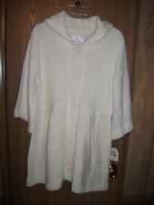 ENERGIE Womens Juniors L Ivory 3/4 Sleeve Cardigan Sweater w Hoodie NWT