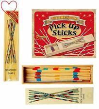 Pick Up Sticks jeu en boîte en bois-Traditionnel Rétro Mikado Set 19 cm long