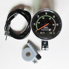 Digital Mechanical Bike Cycling Odometer Stopwatch Waterproof Speedometer Black