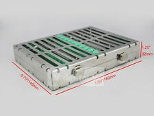 Dental Sterilization Cassette Rack Tray with lock for 10 Surgical Instruments
